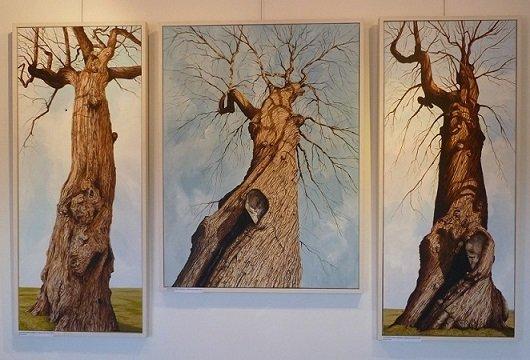 Spanish Chestnut triptych