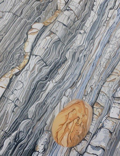 Sandstone boulder, Maer Cliff
