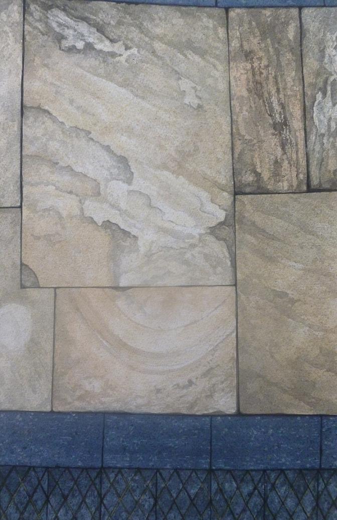 Paving stones, Bank Lane, Totnes