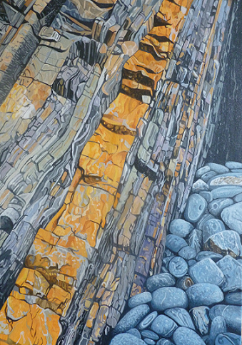 Strata and boulders, Hartland Point