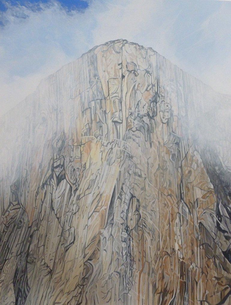 The Nose of El Capitan in mist, Yosemite